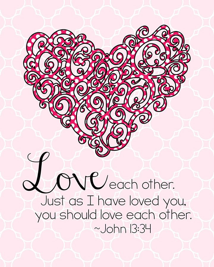 Jesus Love Each Other: More Free Printable Bible Verse Decor « Kimberly Geswein Fonts