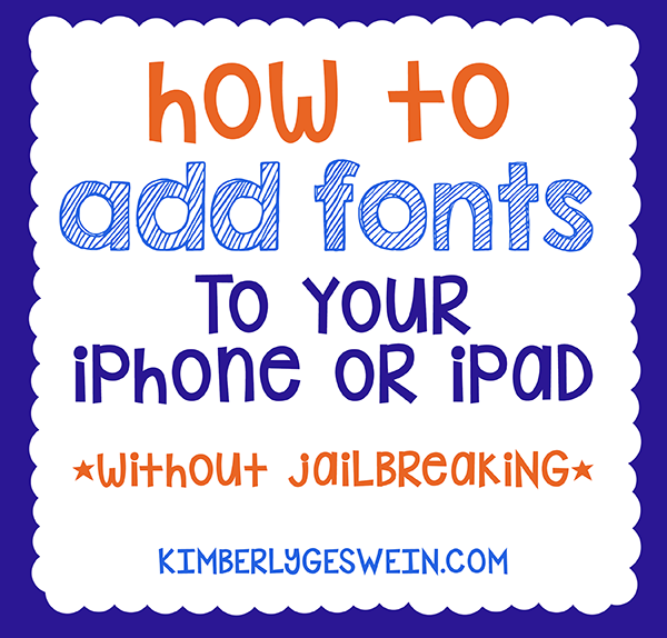 How to Add Fonts to iPhone or iPad