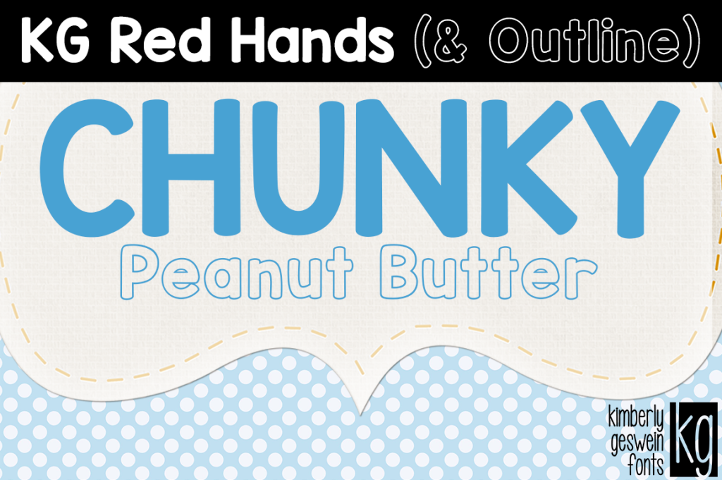 KG Red Hands Font