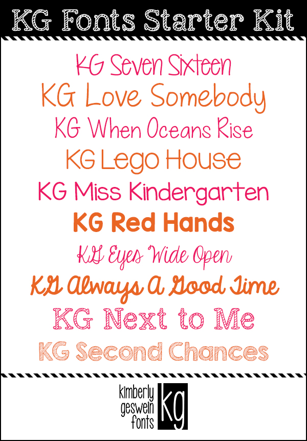 KG Fonts Starter Kit