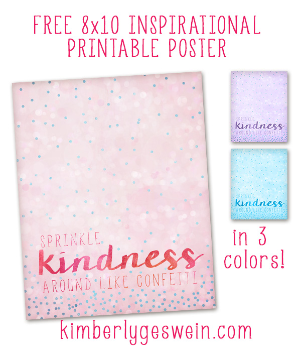 Sprinkle Kindness Printable