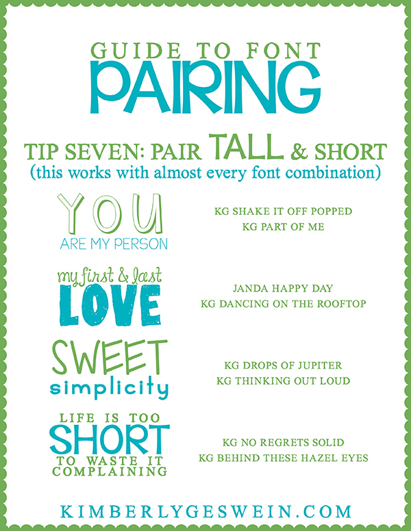 Font Pairing Guide 7