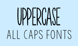 All Caps Fonts – Kimberly Geswein Fonts